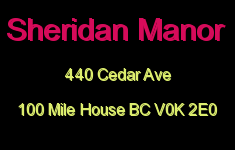 Sheridan Manor 440 CEDAR V0K 1E0