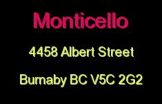 Monticello 4458 ALBERT V5C 2G2
