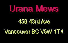 Urana Mews 458 43RD V5W 1T4