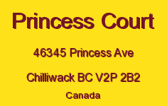 Princess Court 46345 PRINCESS V2P 2B2