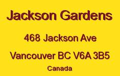 Jackson Gardens 468 JACKSON V6A 3B5