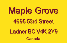Maple Grove 4695 53RD V4K 2Y9