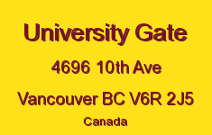 University Gate 4696 10TH V6R 2J5