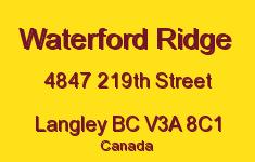 Waterford Ridge 4847 219TH V3A 8C1