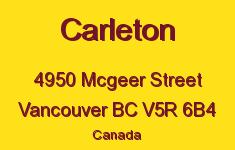 Carleton 4950 MCGEER V5R 6B4