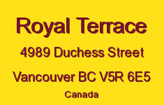 Royal Terrace 4989 DUCHESS V5R 6E5