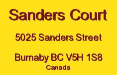 Sanders Court 5025 SANDERS V5H 1S8