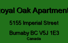 Royal Oak Apartments 5155 IMPERIAL V5J 1E3