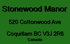 Stonewood Manor 520 COTTONWOOD V3J 2R6