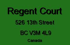 Regent Court 526 13TH V3M 4L9
