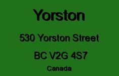 Yorston 530 YORSTON V2G 4S7
