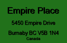 Empire Place 5450 EMPIRE V5B 1N4