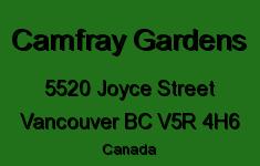 Camfray Gardens 5520 JOYCE V5R 4H6