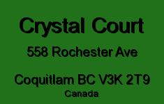 Crystal Court 558 ROCHESTER V3K 2T9