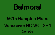 Balmoral 5615 HAMPTON V6T 2H1