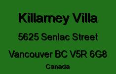 Killarney Villa 5625 SENLAC V5R 6G8