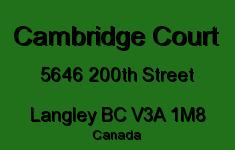 Cambridge Court 5646 200TH V3A 1M8