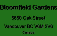 Bloomfield Gardens 5650 OAK V6M 2V6