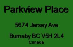 Parkview Place 5674 JERSEY V5H 2L4