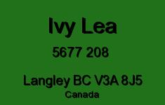 Ivy Lea 5677 208 V3A 8J5