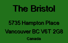 The Bristol 5735 HAMPTON V6T 2G8