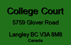 College Court 5759 GLOVER V3A 8M8