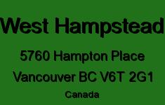 West Hampstead 5760 HAMPTON V6T 2G1