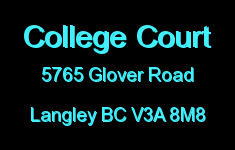College Court 5765 GLOVER V3A 8M8