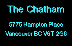 The Chatham 5775 HAMPTON V6T 2G6