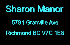 Sharon Manor 5791 GRANVILLE V7C 1E8