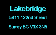 Lakebridge 5811 122ND V3X 3N5