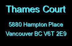 Thames Court 5880 HAMPTON V6T 2E9