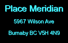 Place Meridian 5967 WILSON V5H 4N9