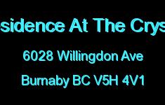 Residence At The Crystal 6028 WILLINGDON V5H 4V1
