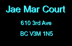 Jae Mar Court 610 3RD V3M 1N5