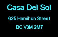 Casa Del Sol 625 HAMILTON V3M 2M7