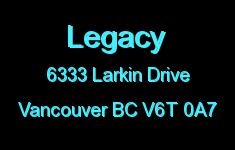 Legacy 6333 LARKIN V6T 0A7