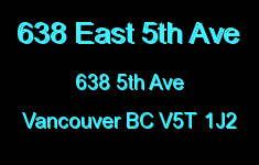 638 East 5th Ave 638 5TH V5T 1J2