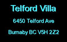 Telford Villa 6450 TELFORD V5H 2Z2