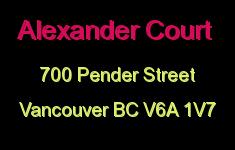 Alexander Court 700 PENDER V6A 1V7