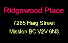 Ridgewood Place 7265 HAIG V2V 6N3