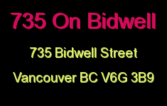 735 On Bidwell 735 BIDWELL V6G 3B9