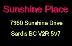 Sunshine Place 7360 SUNSHINE V2R 5V7