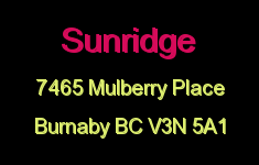 Sunridge 7465 MULBERRY V3N 5A1