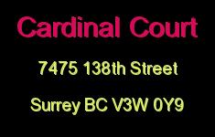 Cardinal Court 7475 138TH V3W 0Y9