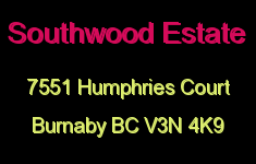 Southwood Estate 7551 HUMPHRIES V3N 4K9