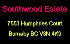 Southwood Estate 7553 HUMPHRIES V3N 4K9