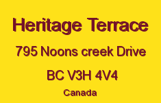 Heritage Terrace 795 NOONS CREEK V3H 4V4