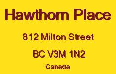 Hawthorn Place 812 MILTON V3M 1N2