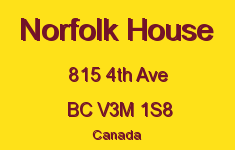 Norfolk House 815 4TH V3M 1S8